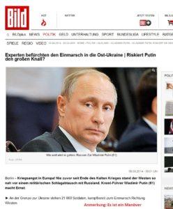 panikmache BILD russland ukraine 08-08-2014