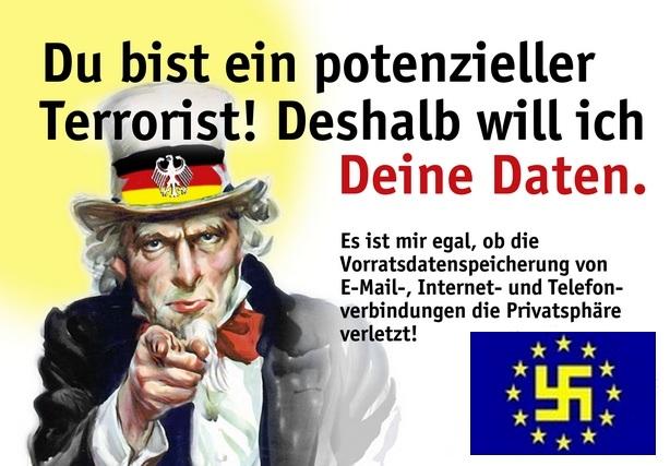 EU Diktatur - Vorratsdatenspeicherung ist verfassungswidrig